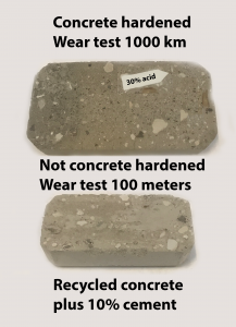 Recycled Concrete Hardened Wear test
