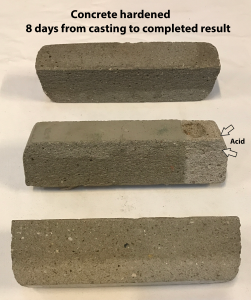 Concrete harened 8 Days From Casting To Use