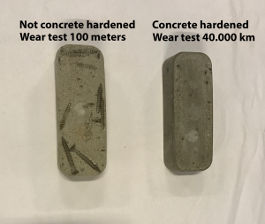 Concrete harened Wear Test 40.000 km