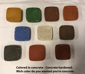 Concrete harened Colored Concrete